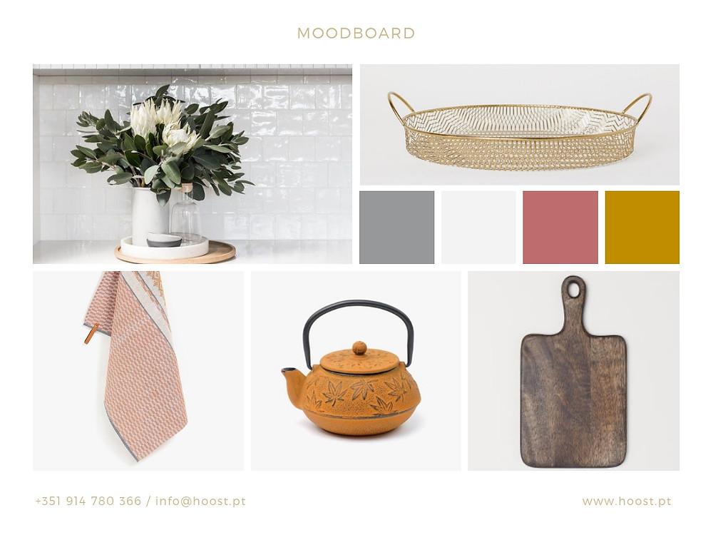 Moodboard para projecto de home staging de cozinha