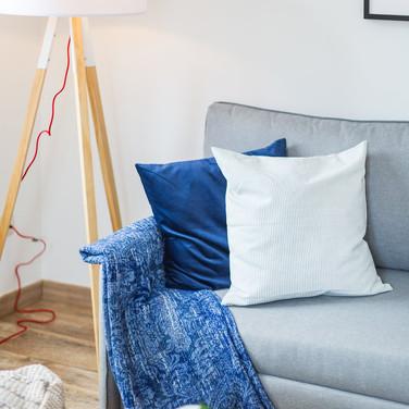 Pormenor decorativo do sofá