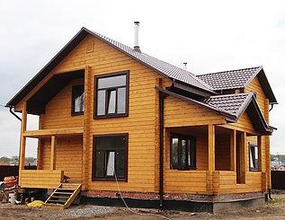дом из сырого бруса