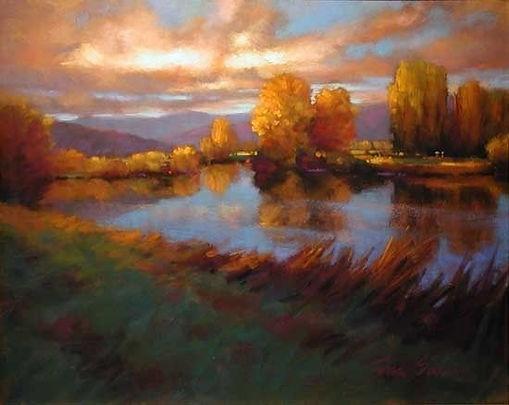 Calm Waters by Teresa Saia Pastel _ 22 x