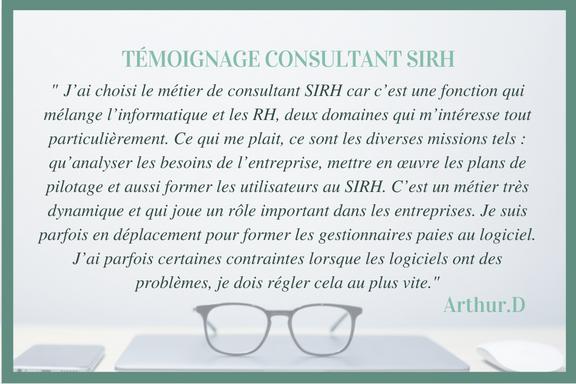 témoignage consultant SIRH