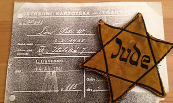 Copy of Gidon's (Peter W. Löw) paperwork and Jewish Star. He was number 885.
