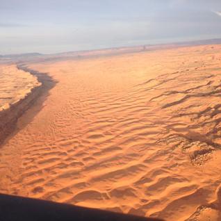 Flying low over the desert southwest.