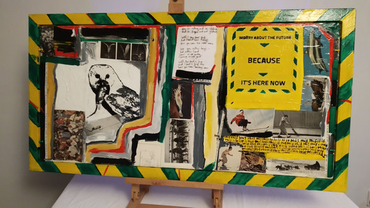 Government Guideline Large Painting Side B (Worry about the Future)