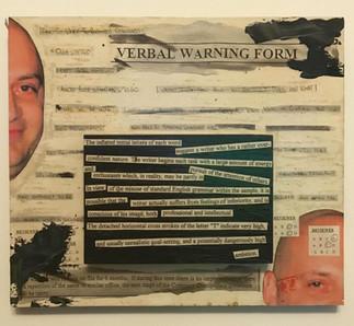 Verbal warning form