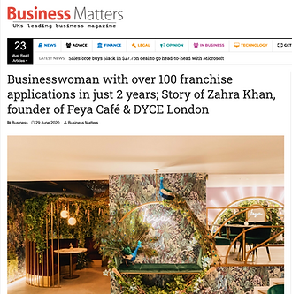 ZAHRA X BUSINESS MATTERS PRESS