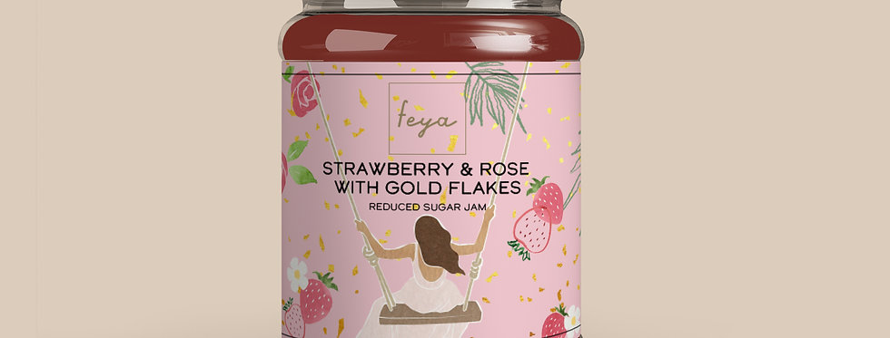 Strawberry & Rose with Gold Flakes Jam