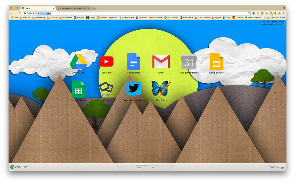 Google Chrome Themes In 2021 Cardboard day