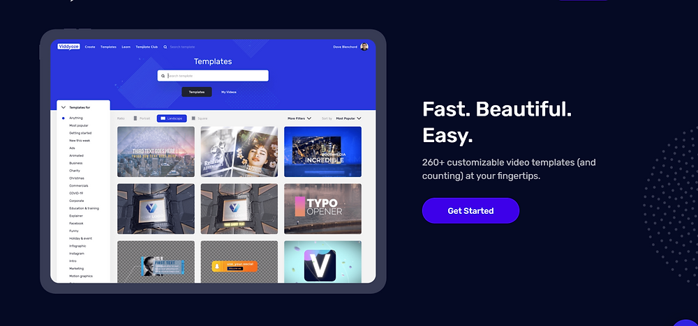 Viddyoze Features