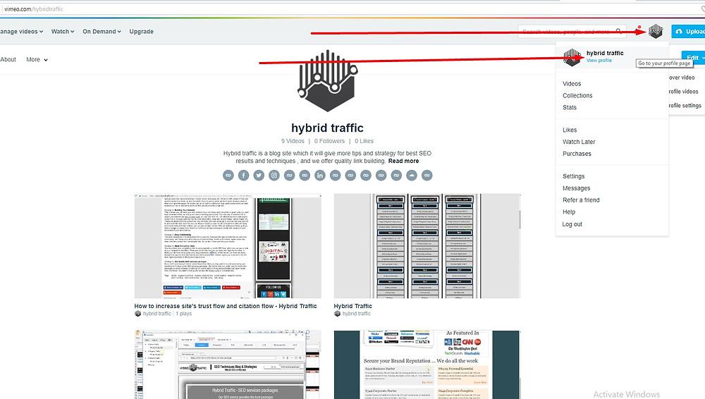 vimeo free backlinks
