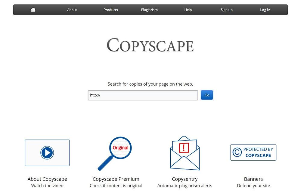 copyscape plagiarism