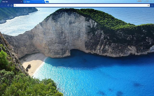 Themes Background Greek Beach