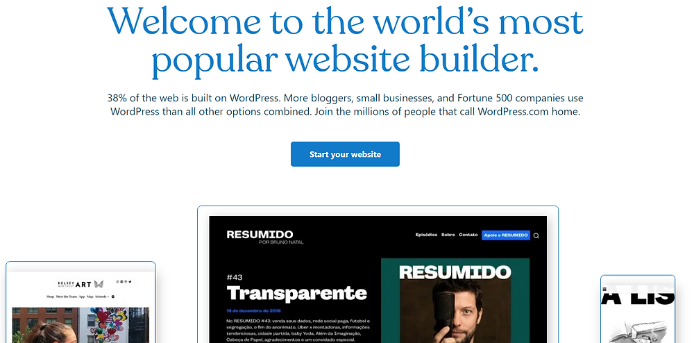 best builder for blogging and writers' websites