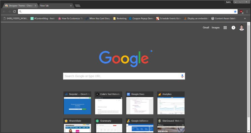 List of Google Themes Designer Theme