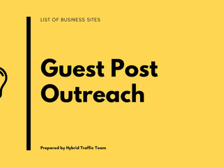 List Of Free Business Guest Post Niche For SEO Outreach [2021]
