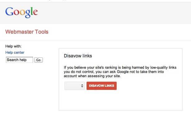 Disavow webmaster tool
