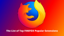 Top List Of Firefox Popular Extensions