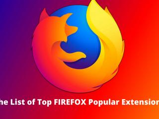 Top List Of Firefox Popular Extensions