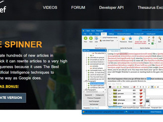 List Of Free Article Spinner Online Tool Rewriter For SEO With API Key