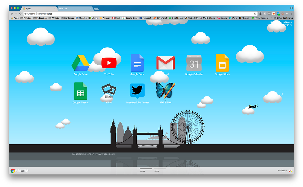 How to install Google Chrome themes Weather Time London Theme – Daylight