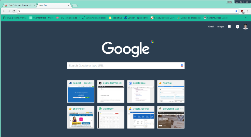 Google themes 2021 Flat Colored Theme