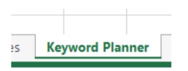 google keyword planner tips