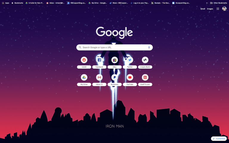 Select Chrome Themes in 2021 Iron Man - Material Design