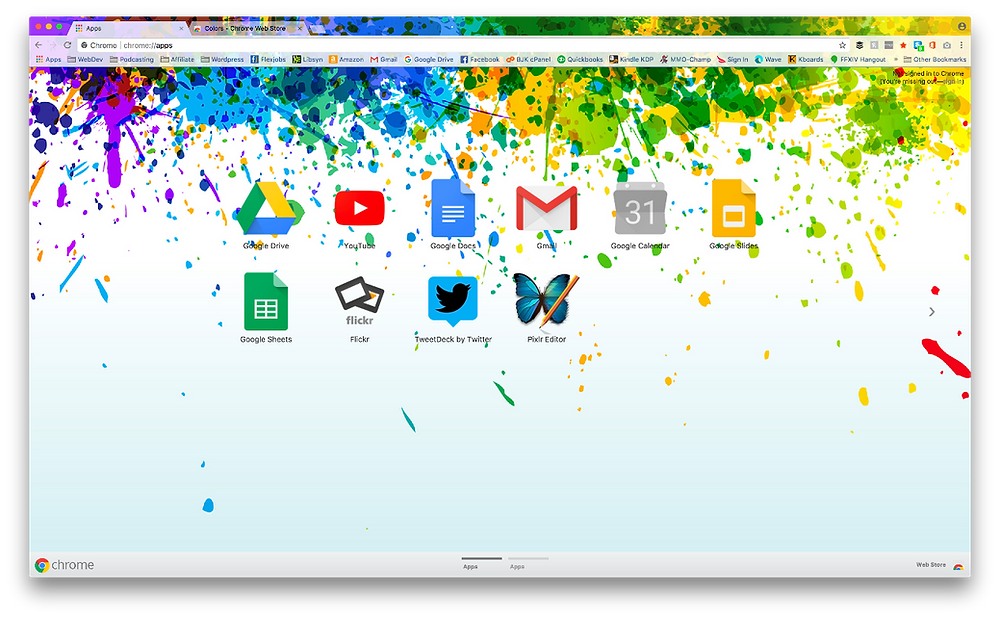 List of Chrome Themes Colors