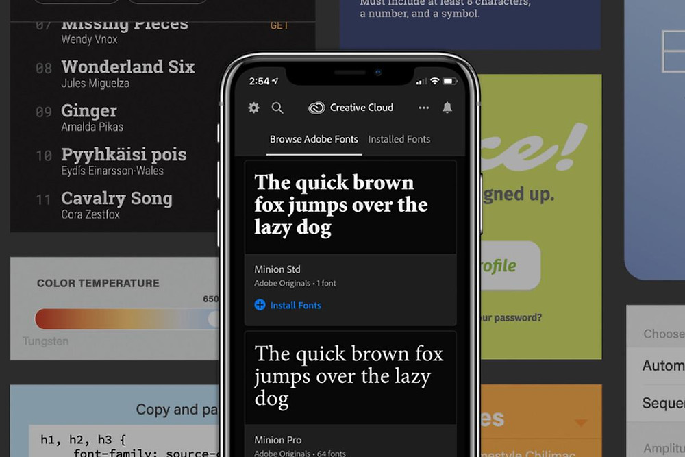 Mobile font size
