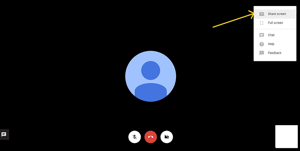 Google hangouts screen sharing