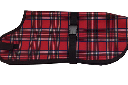 Medium Dog Coat - Waterproof Warmer RED TARTAN
