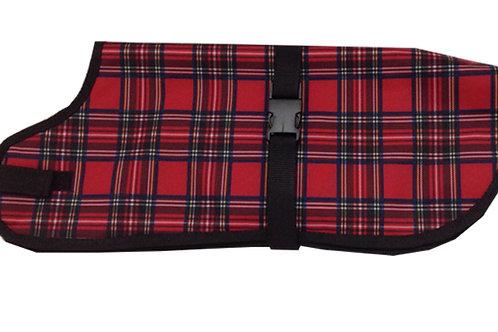 Small Dog Coat - Waterproof Warmer RED TARTAN