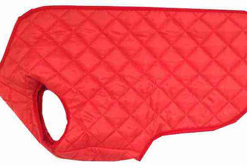 Medium Step in Quilted Dog Coat (RED)