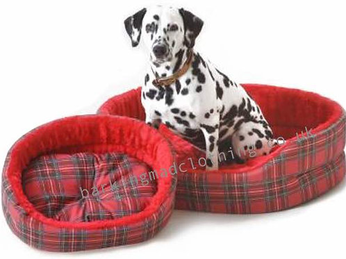 Red Tartan Check Dog Beds, All Sizes, All Dog Breeds, Red Dog Beds, Scotland