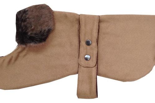 Chelsea Dog Coats, Dog Coats, Designer Dog Coat, Tan, UK, Dog Clothing