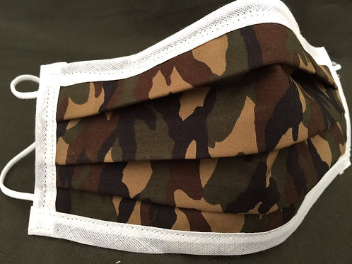 Camouflage Face Mask, Face Masks, Covid 19, Face Covering, Reusable, Washable, Cotton 3 layers