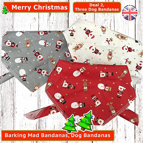 Dog Bandana Deals, Christmas Dog Bandanas, Christmas Dog Clothing, Christmas Dog Clothes, Handmade UK