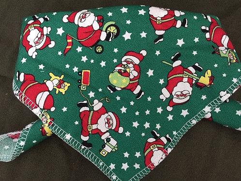 Green Santa, Christmas Dog Bandanas, Dog Clothing, Christmas Dog Neck Scarf, Dog Gifts, UK