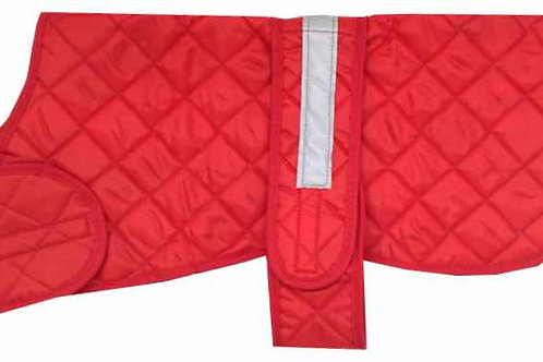 Red Safety Dog Coats, Dog Clothing, Dog Coats, Waterproof, Safety Dog Clothing, UK, Handmade