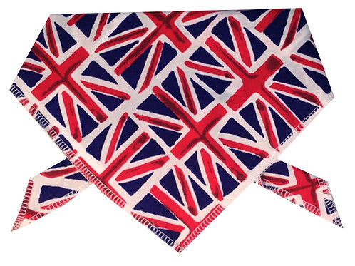 Union Jack Dog Bandanas, Union Bandanas, Neck Ties, Handmade UK Dog Clothing, Dog Clothes, UK