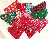 Christmas Dog Sliders, Dog Groomers, Christmas Dog Groomer Slider Bandanas, Handmade UK, Dog Clothing, Dog Clothes UK