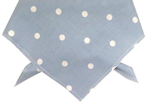Baby Blue Polka Dot Cotton Dog Bandana