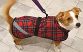 Red Tartan Dog Coat with reflective Hi Vis Strips, perfect for Winter