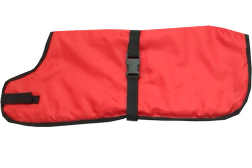 Waterproof Dog Coats, Red Dog Coats, Waterproof Dog Clothing, Handmade UK Dog Clothing, Made to Measure