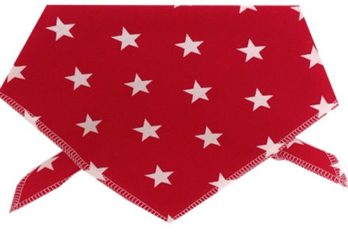 Dog Bandanas, red Stars, Cotton Dog Bandanas, Dog Neck Scarves, Neckerchief UK