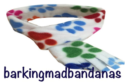 Paw Print Fleece Dog Scarf, Dog Scarves, Dog Clothing, Cheap Birthday gifts UK