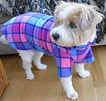 Lilac Fleece Dog Coat, Dog Coats UK, Dog Clothing