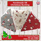 Christmas Bunting, Christmas Decor, Christmas Decorations, Handmade UK