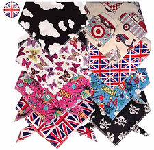 Quality handmade dog bandanas for all dog breeds