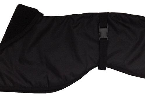 Black Greyhound Dog Coat, Black Greyhound Waterproof Dog Coat, Dog Clothing UK Handmade